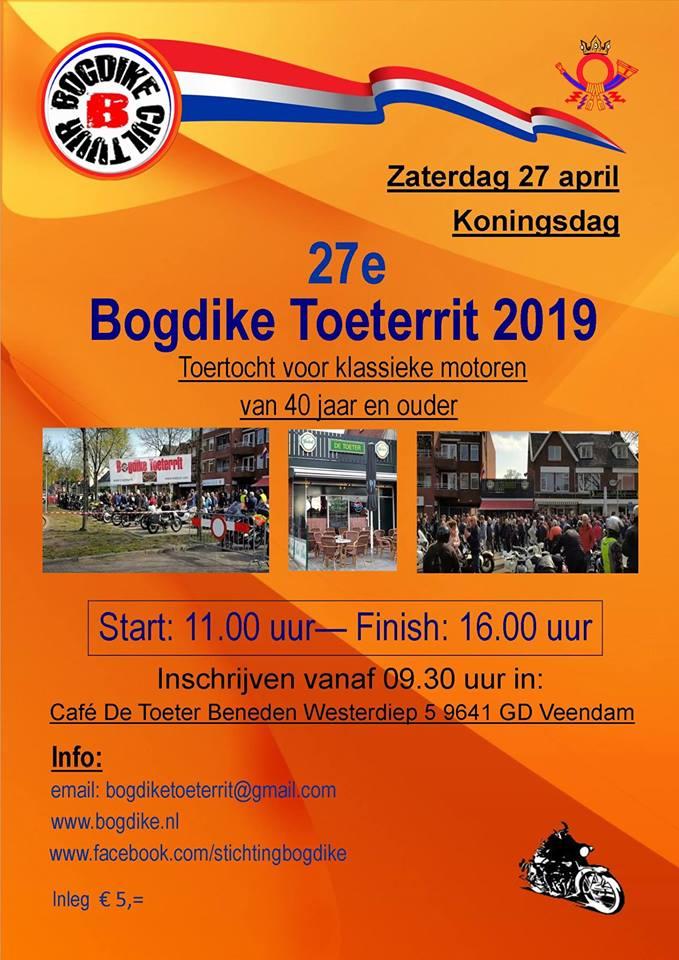 Bogdike Toeterrit op Koningsdag, zaterdag 27 april 2019