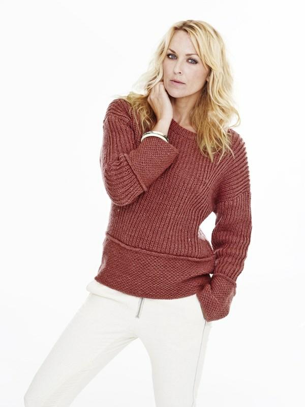 Sweater med struktur