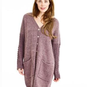 Lang trøje med snoningeærmer fra Onion Knit