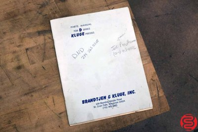 Kluge EHD 14 x 22 Die Cutter Embosser Foil Press - 111119034917