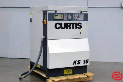 2001 Curtis KS 15 Rotary Screw Air Compressor - 020420011845