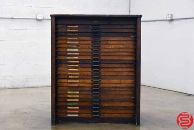 Hamilton Letterpress Type Cabinet - 24 Drawers - 021920125210