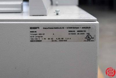 2006 Triumph 430EP Electric Programmable Paper Cutter - 022920122050