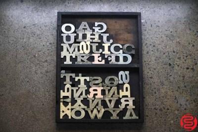 Assorted Letterpress Wood Type - 022120013650