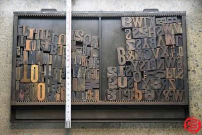 Assorted Letterpress Wood Type - 022120100450