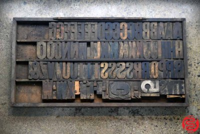 Assorted Letterpress Wood Type - 022120100630