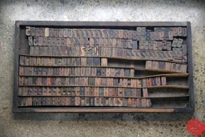 Assorted Letterpress Wood Type - 022120105120