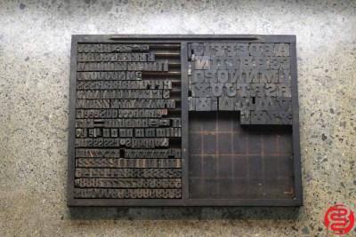 Assorted Letterpress Wood Type - 022220085250
