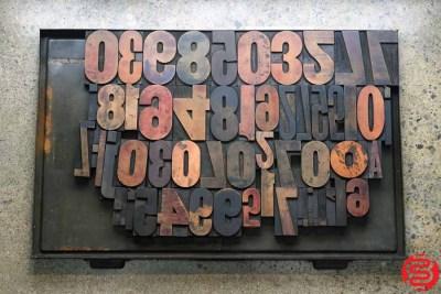 Assorted Letterpress Wood Type - 022220085325