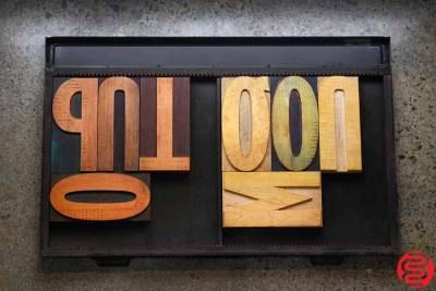 Assorted Letterpress Wood Type - 022220101305