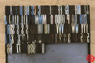 Assorted Letterpress Wood Type - 030220024010