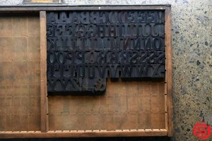 Assorted Letterpress Wood Type - Full Capitals - 1.5 - 032520014850