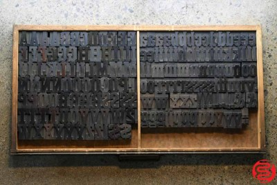Assorted Letterpress Wood Type - Full Capitals Full Lowercase - 1.5 - 032520023450