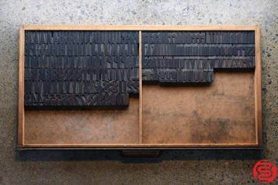 Assorted Letterpress Wood Type - Full Capitals Full Lowercase - 1.5 - 032520102430