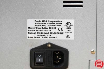 Duplo DocuCutter CC-228 Business Card Slitter - 031420100940