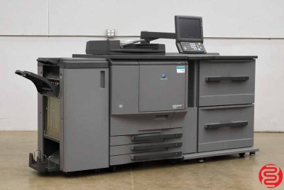 Konica Minolta Bizhub C6501 Digital Press Color Copier Specifications Resolution Scanning 600 × 600 dpi Printing 600 × 600 dpi Memory DIMM 256 MB × 4 HDD 40 GB × 4 (option) Paper Sizes Main Unit A5 – A3 (140 × 182 mm – 330 × 487 mm) Multi-bypass A6 – A3 (100 × 148 mm – 330 × 487 mm) Warm-up Time 420 seconds or less First-copy Time Full Colour 6.5 seconds or less B/W 5.0 seconds or less Copy Speed Full Colour 36 cpm (A3), 41 cpm (B4), 65 cpm (A4), 65 cpm (B5) B/W 36 cpm (A3), 41cpm (B4), 65 cpm (A4), 65 cpm (B5) Magnification Fixed Fixed Ratio: 1:1 ± 0.5%; Reduction: 0.500 / 0.707 / 0.816 / 0.866; Enlargement: 1.154 / 1.224 / 1.414 / 2.00 Zoom Zoom: 25% to 400% in 0.1% increments, 3 user settings Paper Capacity (Main Unit) 500 × 3 sheets + 250 sheet multi-bypass Paper Weight Main Unit 64 – 209 g/m² (256 g/m² for A4 and larger sizes) Multi-bypass 64 – 300 g/m² Multiple Copy Up to 9,999 Power Requirement 240V / 15A Power Consumption 2.8 kW (main unit only) or less Dimensions (W × D × H) 786 × 992 × 1,056 mm Weight Approx. 360 kg (main unit only)