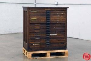 Hamilton Letterpress Type Cabinet - 20 Drawers - 040920023150