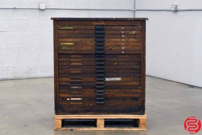 Hamilton Letterpress Type Cabinet - 20 Drawers - 040920023150