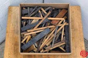 Assorted Letterpress Wood Furniture - 051220105110