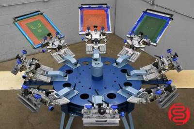 Chameleon 8 Color Manual Screen Printing Press - 062420080913