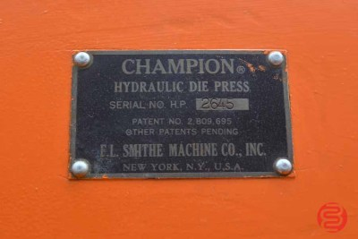 Champion Hydraulic Die Press - 110520114450
