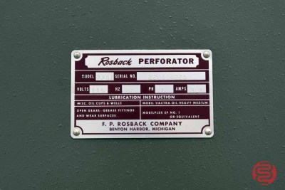 Rosback 220 Friction-Feed Perforator - 120420111120