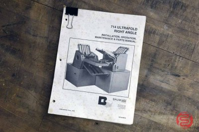Baum 714 Ultrafold w/ Right Angle Paper Folder - 010721032500