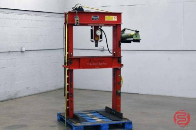 50 Ton Dual Speed Hydraulic Shop Press - 013021092720