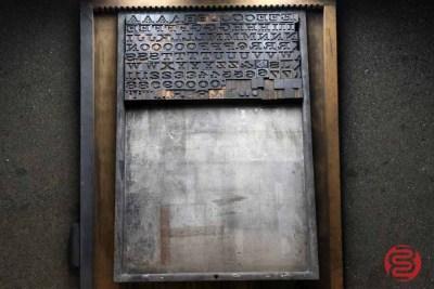 Assorted Antique Letterpress Letter Blocks - 020521015850