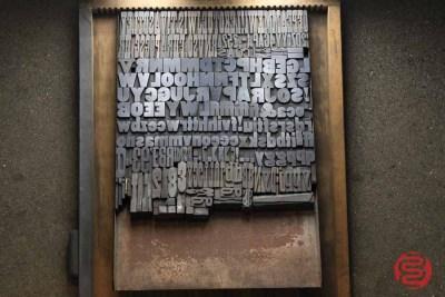 Assorted Antique Letterpress Letter Blocks - 020521111150