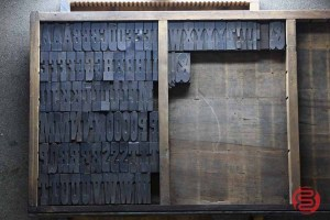 Assorted Antique Letterpress Letter Blocks - 020621101250