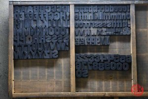 Assorted Antique Letterpress Letter Blocks - 020621102200