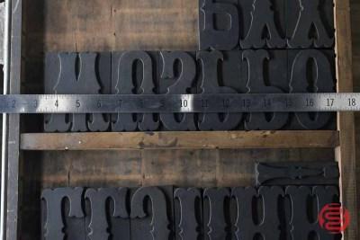 Assorted Antique Letterpress Letter Blocks - 020621104050