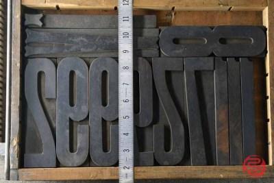 Assorted Antique Letterpress Letter Blocks - 020821080810