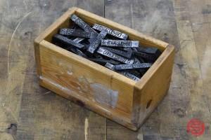 Challenge Letterpress Typeset Blocks - 022521120740