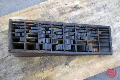 Hamilton Letterpress Furniture Cabinet w/ Assorted Furniture - 021121091930