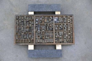 Assorted Antique Letterpress Letter Blocks - 040921012550