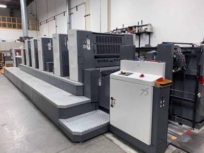 2009 Shinohara Model 75V-C Five Color Offset Printing Press - 051821101836