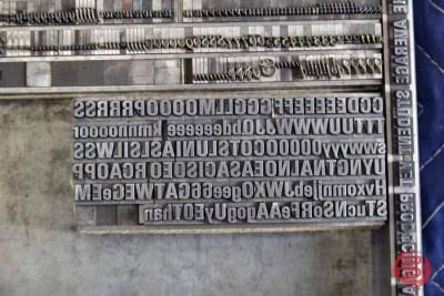 Assorted Letterpress Font Metal Type - 050521032550