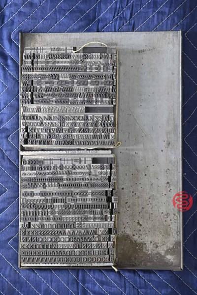 Assorted Letterpress Font Metal Type - 050521033154