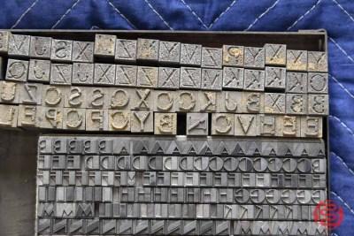 Assorted Letterpress Font Metal Type - 050521035804
