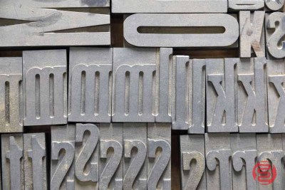 Assorted Letterpress Font Metal Type - 050521100523