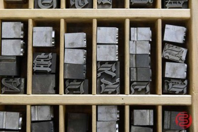 Assorted Letterpress Font Metal Type - 050521113030