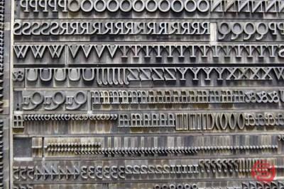 Assorted Letterpress Font Metal Type - 050621074622