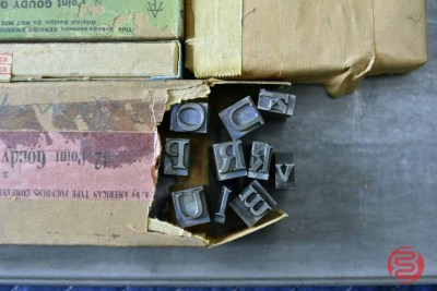 Assorted New Type Font Boxes (Qty - 12) - 050521011055