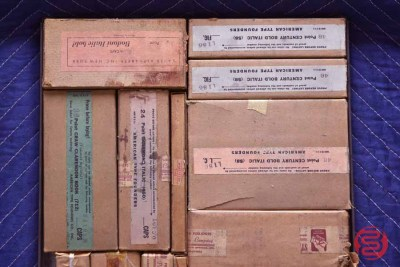 Assorted New Type Font Boxes (Qty - 12) - 050521013229