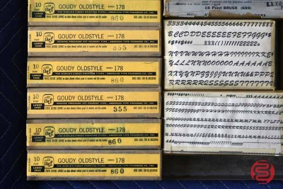 Assorted New Type Font Boxes (Qty - 16) - 050521011055