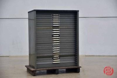 Hamilton Letterpress Typekit Cabinet - 050321075825
