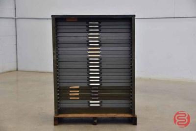 Hamilton Letterpress Typekit Cabinet - 050321120010
