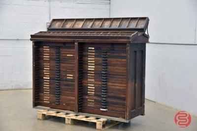 Hamilton Letterpress Typekit Cabinet - 051021090556